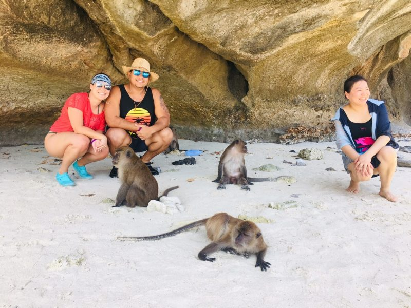 Monkey beach Phi Phi islands