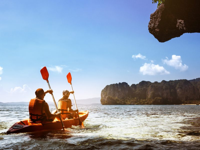 Kayaking at Hong island Krabi